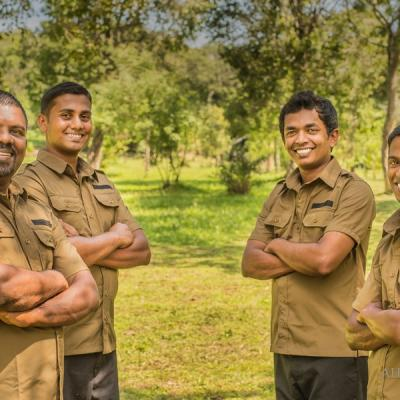 Ahaspokuna Team, well experienced service staff for camping and bush walks in sri lanka