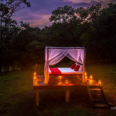 Ahaspokuna star bed at night, Best camping experience in Sri Lanka