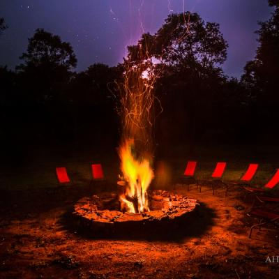 Campfire in the evening, best camping experience in Sri Lanka